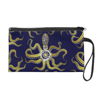 Steampunk Gears Octopus Kraken Wristlet Clutches