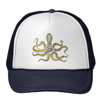 Steampunk Gears Octopus Kraken Cap
