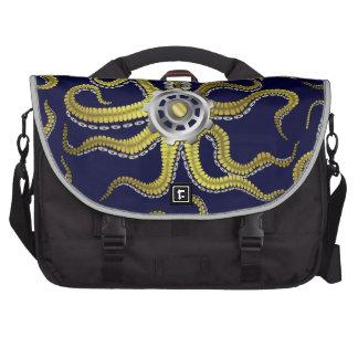 Steampunk Gears Octopus Kraken Computer Bag
