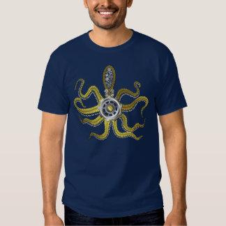 Steampunk Gears Octopus Kraken Tee Shirt