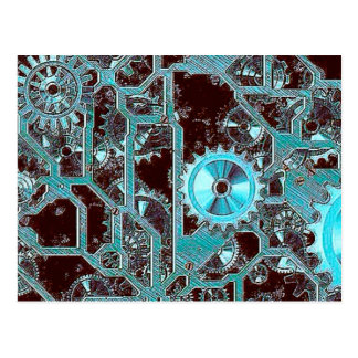 Steampunk,gears Post Card