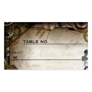 Steampunk Gears Victorian Guest Placecards Pack Of Standard Business Cards