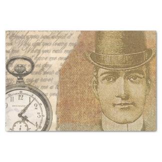 Steampunk Gentleman Pocket Watch Tissue Paper