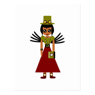 Steampunk Girl Goal Keeper of Time Postcard