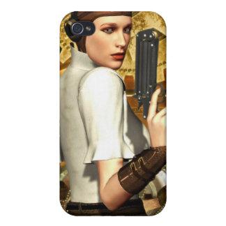 Steampunk girl iPhone 4/4S case
