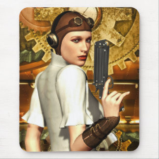 Steampunk girl mouse pad