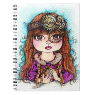 Steampunk Girl Notebook