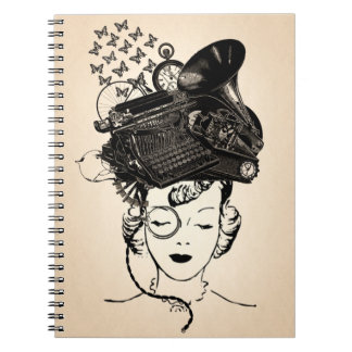 Steampunk Girl Notebooks