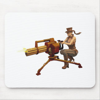 Steampunk Girl with Gun Mouse Pad