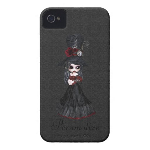 Steampunk Goth Girl BlackBerry Bold Personalized Blackberry Bold Covers