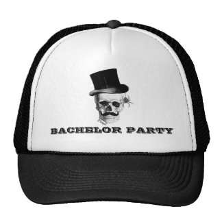 Steampunk gothic bachelor party cap