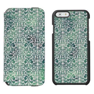 Steampunk Green Damask Distressed Floral Victorian Incipio Watson™ iPhone 6 Wallet Case