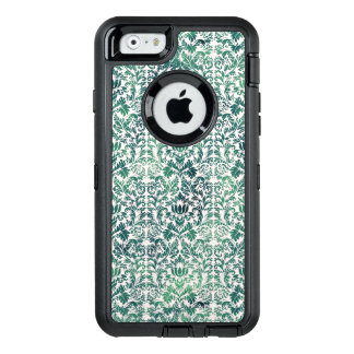 Steampunk Green Damask Distressed Floral Victorian OtterBox Defender iPhone Case