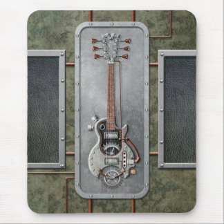 Steampunk Guitar Mouse Pad