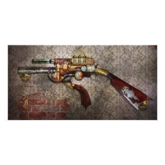 Steampunk - Gun - The sidearm Personalised Photo Card