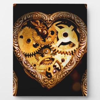 steampunk heart plaques