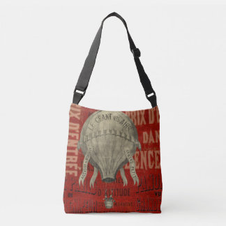 Steampunk Hot Air Ballon Ride Graphic Fonts Crossbody Bag