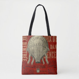 Steampunk Hot Air Ballon Ride Graphic Fonts Tote Bag