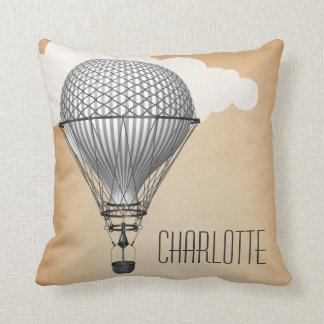 Steampunk Hot Air Balloon Cushion