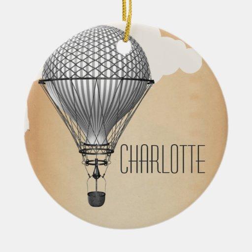Steampunk Hot Air Balloon Ornaments