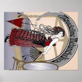 Steampunk Illustration Maudeline Melancholia 2 Poster