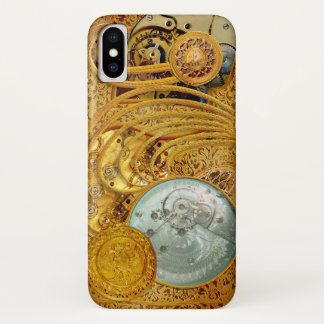 Steampunk in Faux Gold iPhone X Case