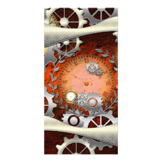 Steampunk in wonderful edelegant design personalized photo card