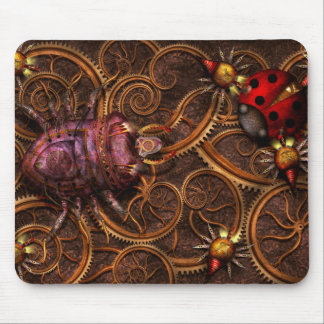 Steampunk - Insect - Itsy bitsy spiders Mouse Pad