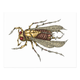 Steampunk Insect Postcard