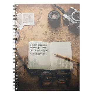 Steampunk Inspirational Quote Hardcover Notebook