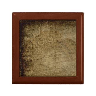 Steampunk Jewelry Box with Clocks