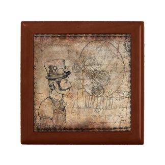 Steampunk Jewelry Box with Edwardian Man