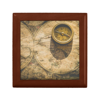 Steampunk Jewelry Box with Navigational Compass