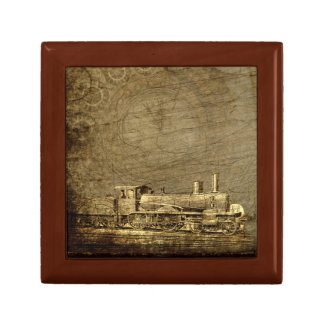 Steampunk Jewelry Box with Steam Locomotive
