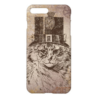 Steampunk Kitty Cat in Top Hat, Gears, Pocketwatch iPhone 7 Plus Case