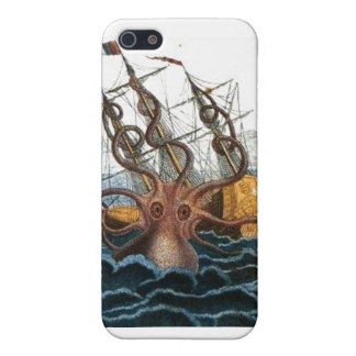 Steampunk Kraken Giant Octopus Nautical Cover For iPhone 5/5S
