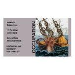 Steampunk Kraken Giant Octopus Nautical Pack Of Standard Business Cards