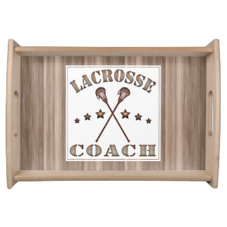 Steampunk Lacrosse Coach Serving Tray