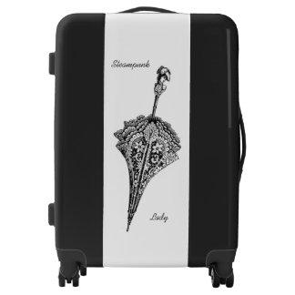 Steampunk Lady Parasol Luggage