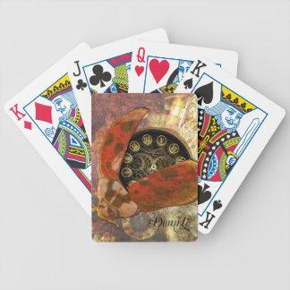 Steampunk Ladybug Bicycle Playing Cards