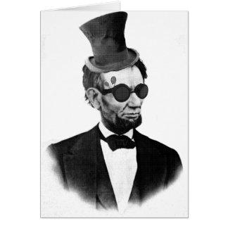 Steampunk Lincoln Card