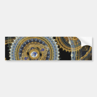 Steampunk machine bumper sticker