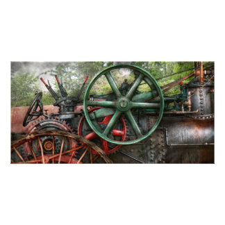 Steampunk - Machine - Transportation of the future Personalised Photo Card