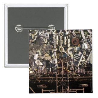 Steampunk machinery pin