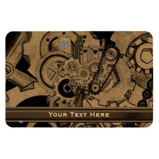 Steampunk Machinery (Brassy) Rectangular Photo Magnet