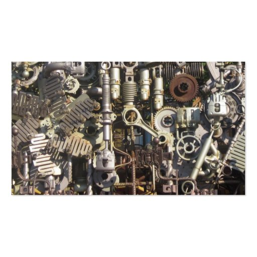Steampunk machinery business card