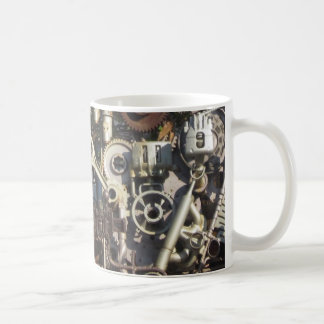Steampunk machinery coffee mug