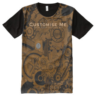 Steampunk Machinery (Copper) All-Over Print T-Shirt
