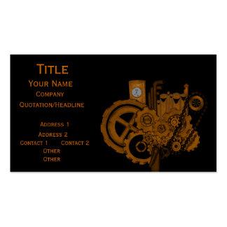 Steampunk Machinery Copper Business Card Template