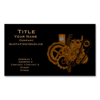 Steampunk Machinery (Copper) Magnetic Business Cards
